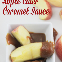Easy Slow Cooker Apple Cider Caramel Sauce! | saynotsweetanne.com | #caramel #apple #slowcooker #dessert #topping