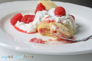 Saturday Crepes | Berry compote with French Cream Crepes. Easier than I ever thought! | saynotsweetanne.com