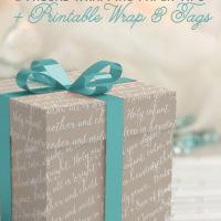 DIY Printable gift wrap and tags