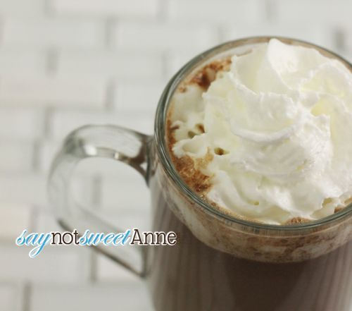 Easy, 3 Ingredient Hazelnut Hot Cocoa. 2 minutes and done! | saynotsweetanne.com |