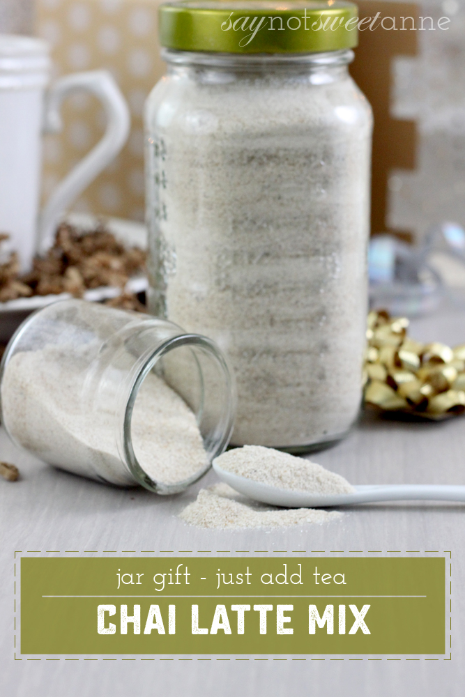 Amazing DIY Chai Latte Mix. Simply combine and serve! Great for gifting, or just to keep around. | saynotsweetanne.com