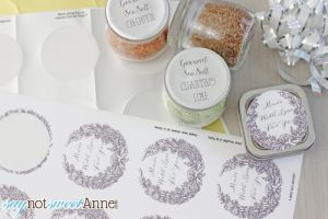 DIY Flavored Salt | Great gift, with three styles of customizable printable labels! | saynotsweetanne.com
