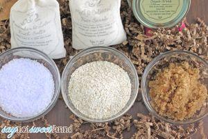 Three Easy Bath Treats in the Food processor! Three or less ingredients each. | saynotsweetanne.com