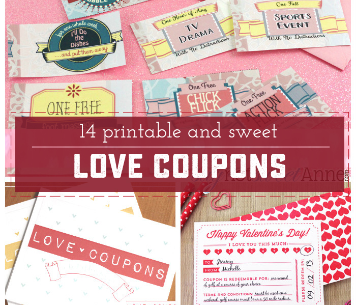 14 Adorable and Unique Printable Love Coupons - Sweet Anne Designs