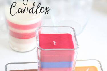 DIY Dollar Store Candles | Easy, fun, and under $5 each! | Saynotsweetanne.com