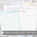 Free Editable & Printable Goal Tracker