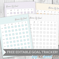 Free Editable Goal Tracking worksheet! Made to mate the 2015 Modular Printable planner - or use it alone. All text is editable in Google Doc format. | saynotsweetanne.com
