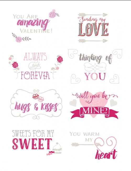 Free Printable Valentine Tags by saynotsweetanne.com