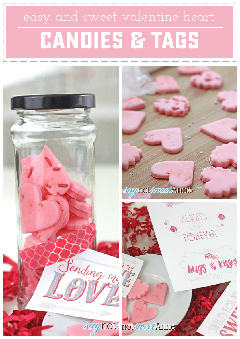Easy DIY Soft Candies + Printable Valentine Tags by Saynotsweetanne.com