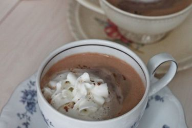 Easy, Decadent, Hazelnut Mocha Cafe for two. Perfect for a morning pick me up! | saynotsweetanne.com