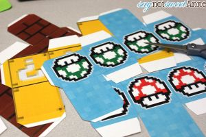 Easy Printable Mario Boxes - great for decor, gifts or play! | saynotsweetanne.com