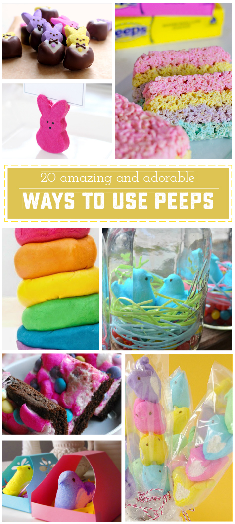 20 Amazing and Adorable Ways to Use Peeps! Break out of the candy rut and try something new with these unique ideas! | saynotsweetanne.com