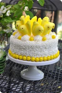Peeps Cake from Dixie Delights
