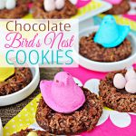 Chocolate Bird's Nest Cookies from Five Heart Home