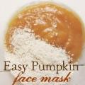 Easy Pumpkin Face Mask