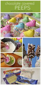Chocolate Covered Peeps from Your Home Based Mom