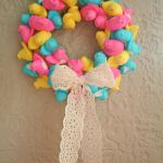 Peep Wreath from Tried and True Blog