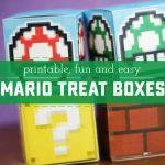 Printable Mario Treat Boxes