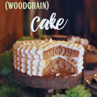Faux Bois (Woodgrain) cake. Perfect for woodland themed events, or just because it is beautiful! | saynotsweetanne.com