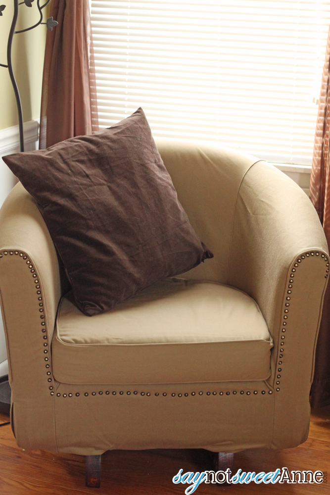 Pleasing Remake An Inexpensive Ikea Chair Into An Upscale Rocker Bralicious Painted Fabric Chair Ideas Braliciousco
