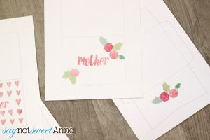 Free Printable Mother's Day Cards & Matching Envelopes | Saynotsweetanne.com