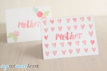 Free Printable Mother's Day Cards & Matching Envelopes   Saynotsweetanne.com