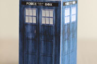 Easy DIY Doctor Who paper boxes. Great for small trinkets and treats, or just as desktop fun. Free printable and instructions! | saynotsweetanne.com