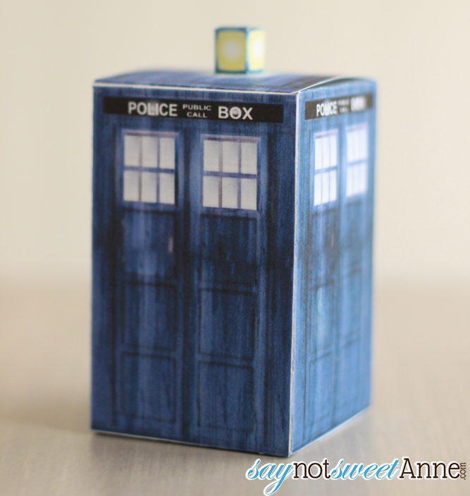 picture about Tardis Printable named Physician Who Printable Containers - Adorable Anne Patterns