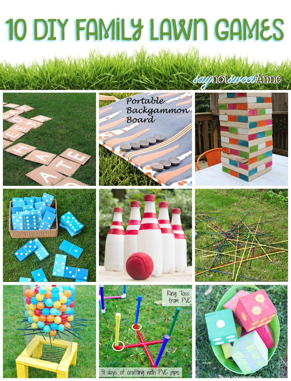 10 Diy Family Lawn Games Sweet Anne Designs