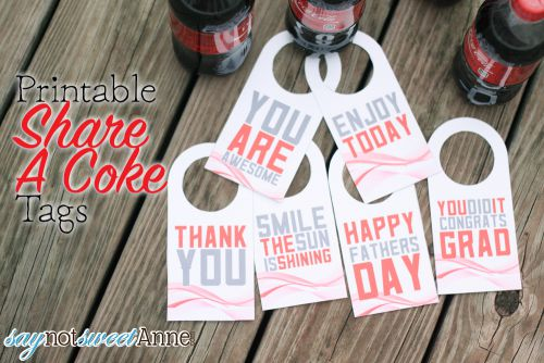 Printable Share A Coke Tags