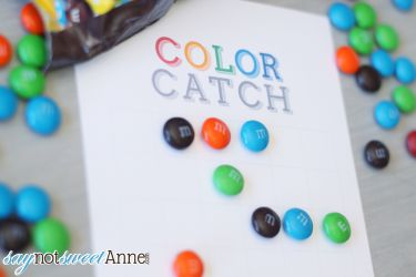 Color Catch: A Printable board game you play with candy! | saynotsweetanne.com