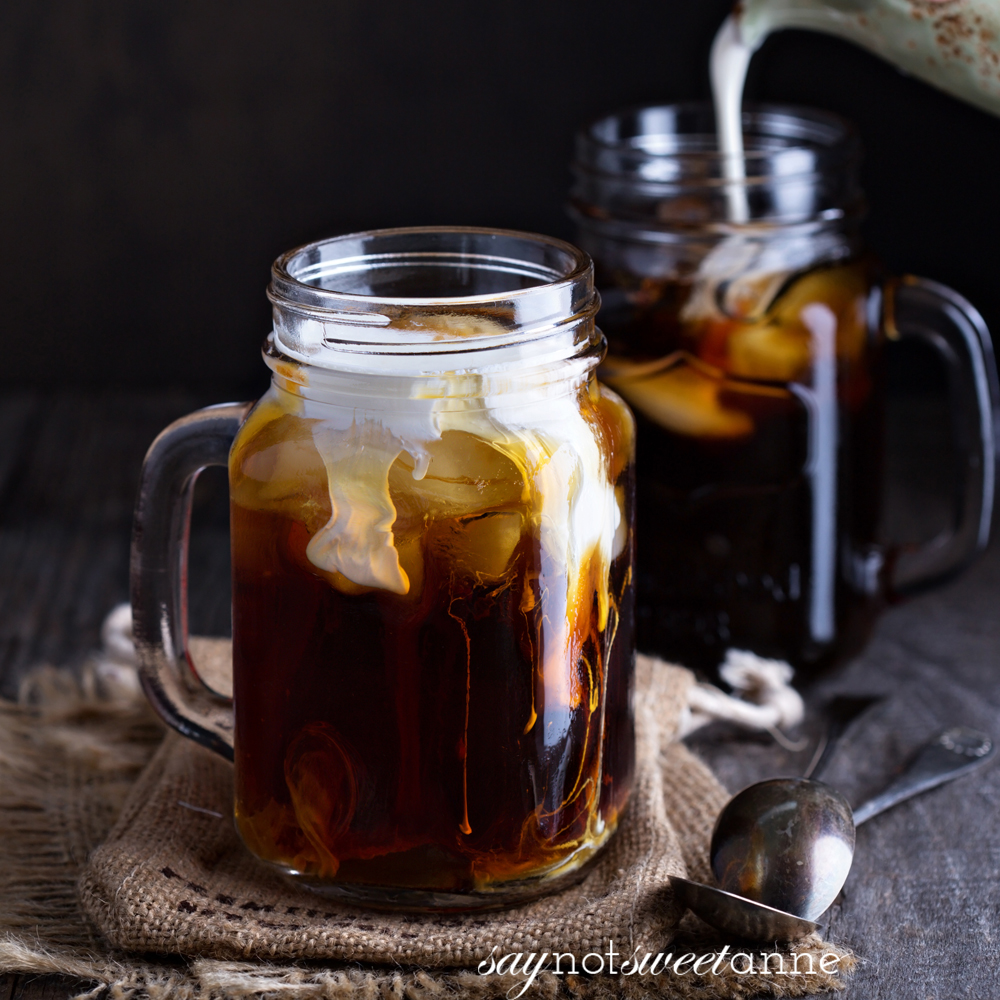 How to make Cold Brew Coffee the easy way! Perfect for iced coffees in the hot months, or just because. | saynotsweetanne.com