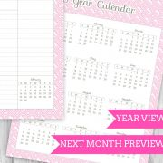 Printable Planner Year View