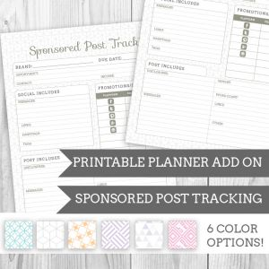 Printable Planner Notes Add On
