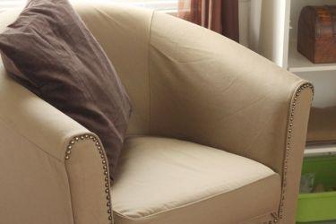 Remake an inexpensive Ikea Chair into an upscale rocker! Ektorp Tullsta rocking chair hack! | saynotsweetanne.com
