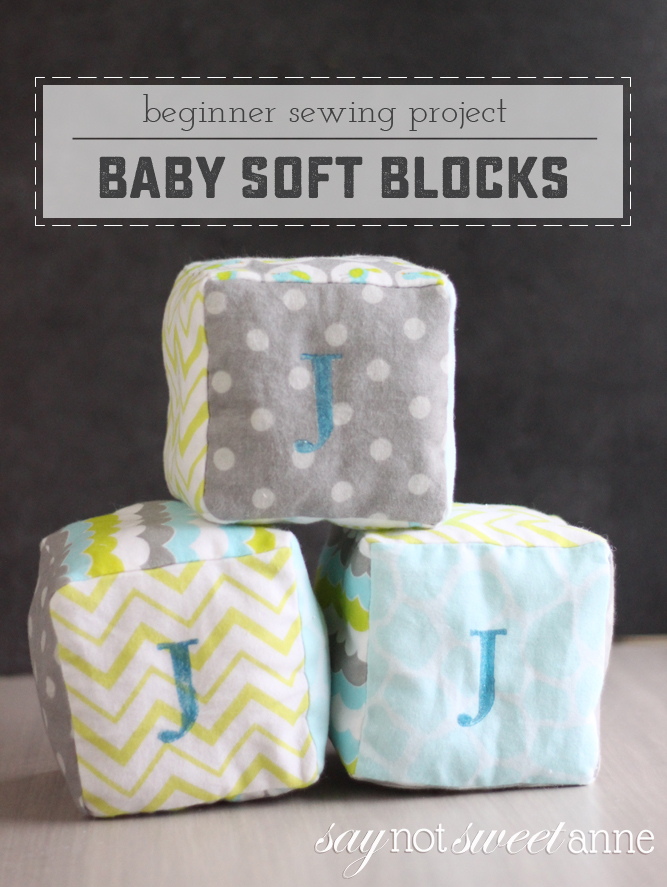 Adorable and Easy DIY soft blocks! Perfect for baby showers, or a just because gift! | saynotsweetanne.com