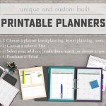 2016 Printable Planners