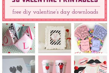 Collection of 30 Free Valentine Printables Sample