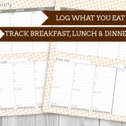 Printable Food Log Planner
