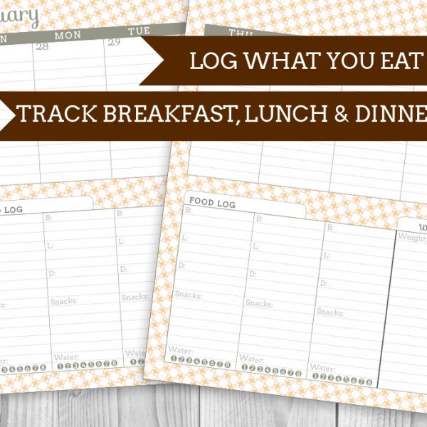 Printable Food Log Planner