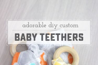 Beautiful DIY Baby Teethers! Perfect for baby shower gifts, or just to make a special keepsake for baby. | saynotsweetanne.com