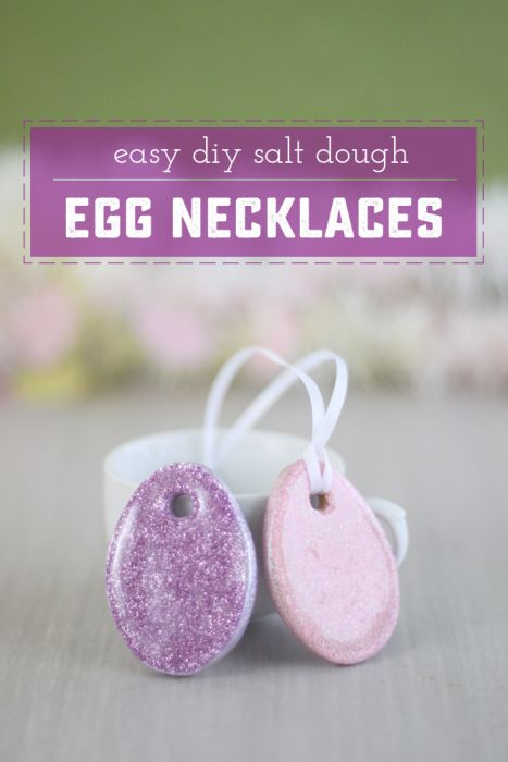 Easy DIY Easter Necklace. Great addition to any basket, and a super sweet kid's craft! | saynotsweetanne.com