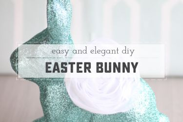 Easy and Elegant Easter Bunny | saynotsweetanne.com