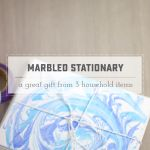 DIY Marbled Paper Stationary Set