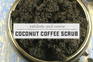 Easy DIY Coconut and Coffee Scrub! Great for skin health, and perfectly pampering. | saynotsweetanne.com
