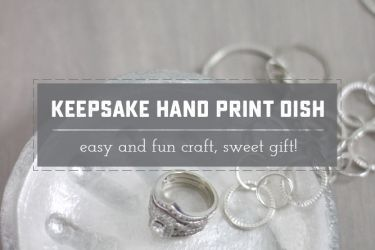 Beautiful Handprint Dish. Very easy tutorial, using a simple salt dough. Great Mother's Day or Christmas gift for Mom! | saynotsweetanne.com