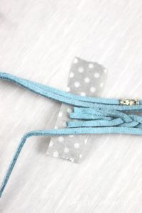 Super Simple DIY Strappy Bracelet! What a great, inexpensive way to make your own statement piece. | Saynotsweetanne.com