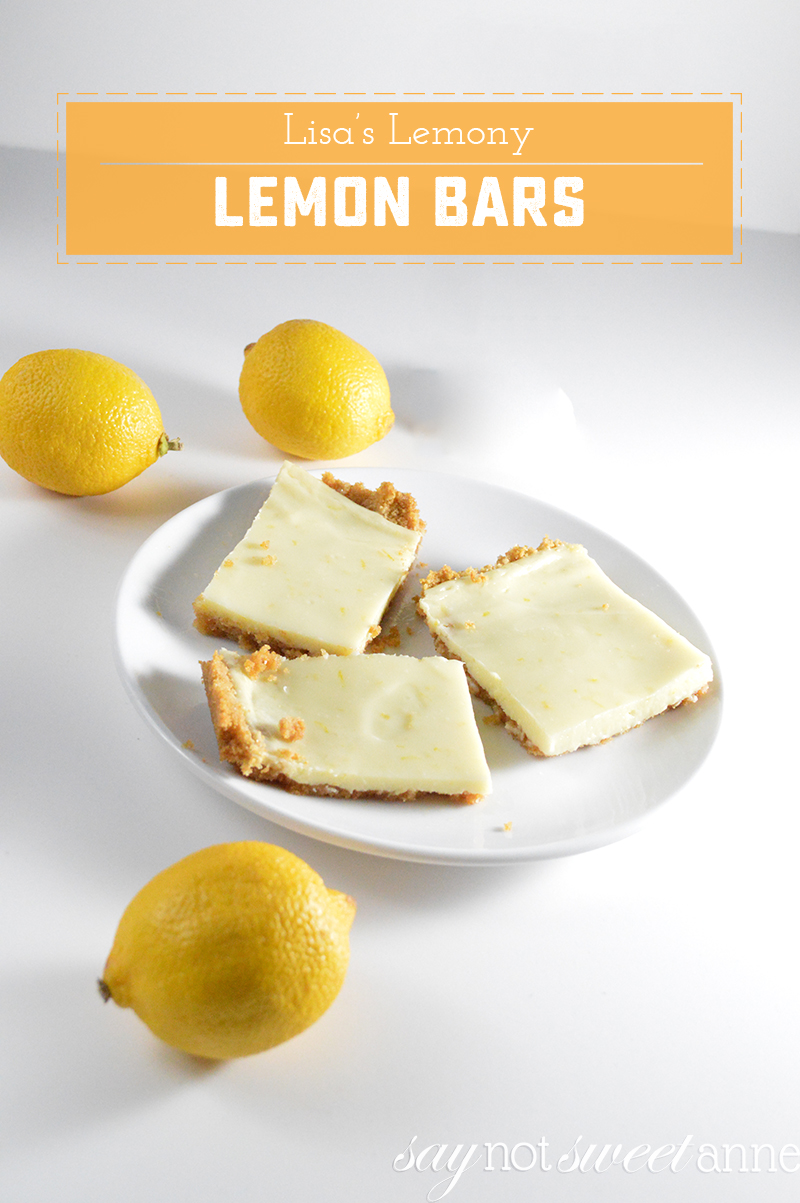Lisa's Lemony Lemon Bars, an easy dessert from my childhood! | saynotsweetanne.com