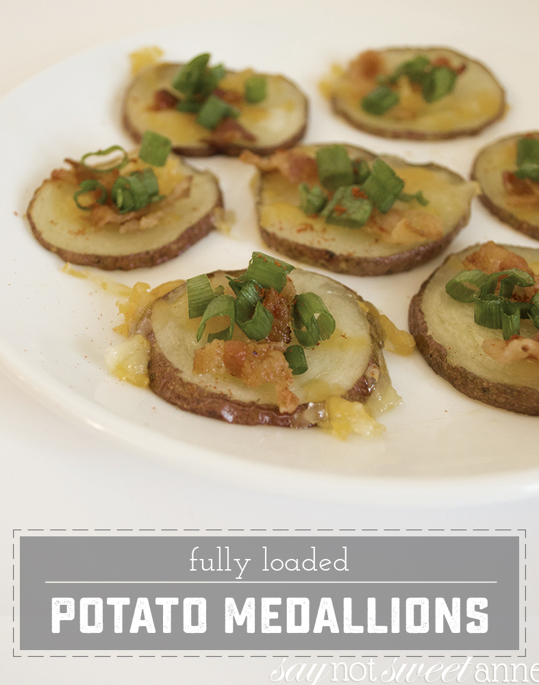 Delicious bite sized versions of potato skins! Perfect for parties [even a party for one!!] | saynotsweetanne.com