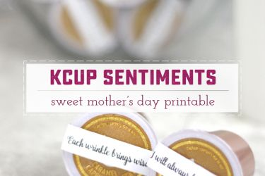 Sweet Printable Sentiments to wrap on KCups and give to Mom. What a great gift to wake up to every morning! | saynotsweetanne.com